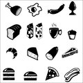 Food icon set Stock Photography