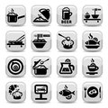 Food icon set elegant vector created for mobile web and applications Royalty Free Stock Photo