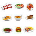 Food icon set illustration of Royalty Free Stock Photography