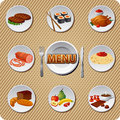 Food icon set and meal Stock Image