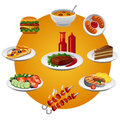 Food icon set of various icons Royalty Free Stock Image