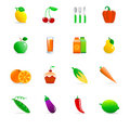 Food icons Royalty Free Stock Photo