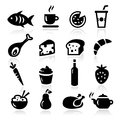 Food icons collection of and cooking Royalty Free Stock Images