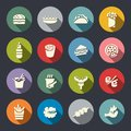 Food Icons Color. Vector Illus...
