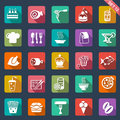 Food icons flat design set of Royalty Free Stock Image