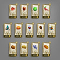 Food icons for games. Royalty Free Stock Photo