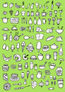 Food icons hand drawn set Stock Photo