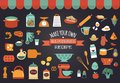 Food icons and illustrations - vector collection Royalty Free Stock Photo