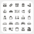 Food icons set eps don t use transparency Stock Image