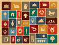 Food icons simple symbols of a foodstuff Royalty Free Stock Image