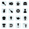 Food icons vector Stock Image