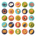 Food icons vector set Royalty Free Stock Photo