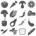 Food ingredient Icon Set Vector Royalty Free Stock Photo