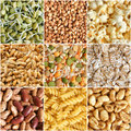 Food ingredients collage Royalty Free Stock Image