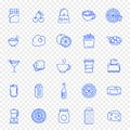 Food and Kitchen Icon set. 25 Icons