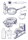 Food And Kitchen Utensils