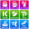 Food labels informative and useful on foodstuffs Royalty Free Stock Photography