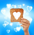 Food with love - help the needy concept Royalty Free Stock Photo