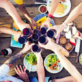 Food lunch celebration party flavors concept Royalty Free Stock Photography