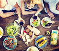 Food Lunch Celebration Party Flavors Concept Royalty Free Stock Photo