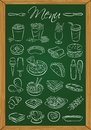 Food Menu On The Chalkboard