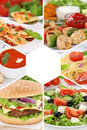 Food menu collection collage meal meals restaurant group Royalty Free Stock Photo