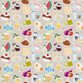 Food pattern and drink seamless Stock Photography