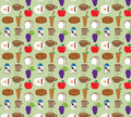 Food patterns backgrounds Royalty Free Stock Photo