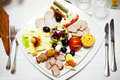Food plate at ceremony Stock Image