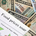 Food prices soar Royalty Free Stock Photo