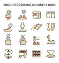Food processing icon