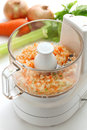Food processor image making the chopped vegetables Royalty Free Stock Photos
