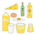 Food Pyramid Dairy Oil Foods Stock Images