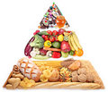Food pyramid for vegetarians. Royalty Free Stock Photography