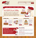Food recipes web template for cooking website Stock Images