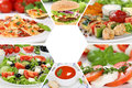 Food restaurant menu collection collage meal meals Royalty Free Stock Photo