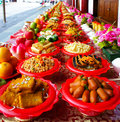 Food of sacrifice foods in singapore Stock Images