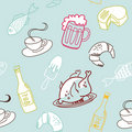 Food seamless pattern. Royalty Free Stock Images