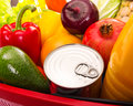 Food set various fruits and vagetables close up photo Royalty Free Stock Photo