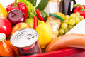 Food set various fruits and vegetables close up photo Stock Photos
