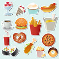 Food set vector this is file of eps format Stock Photos