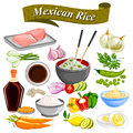 Food and Spice ingredient for Mexican Rice Bowl