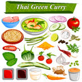 Food and Spice ingredient for Thai Green Curry