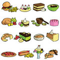 Food and sweet vector Stock Image
