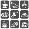 Food symbols set Royalty Free Stock Photo