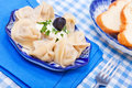 Food - tasty course  - russian ravioli Stock Photography