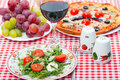 Food - tasty italian dinner Stock Photography