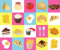 Food texture made of flat icons Royalty Free Stock Image