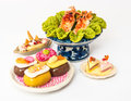 Food toy japanese sushi squid ice cream cake Stock Image