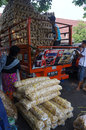 Food traders loading the in the city of solo central java indonesia Stock Images
